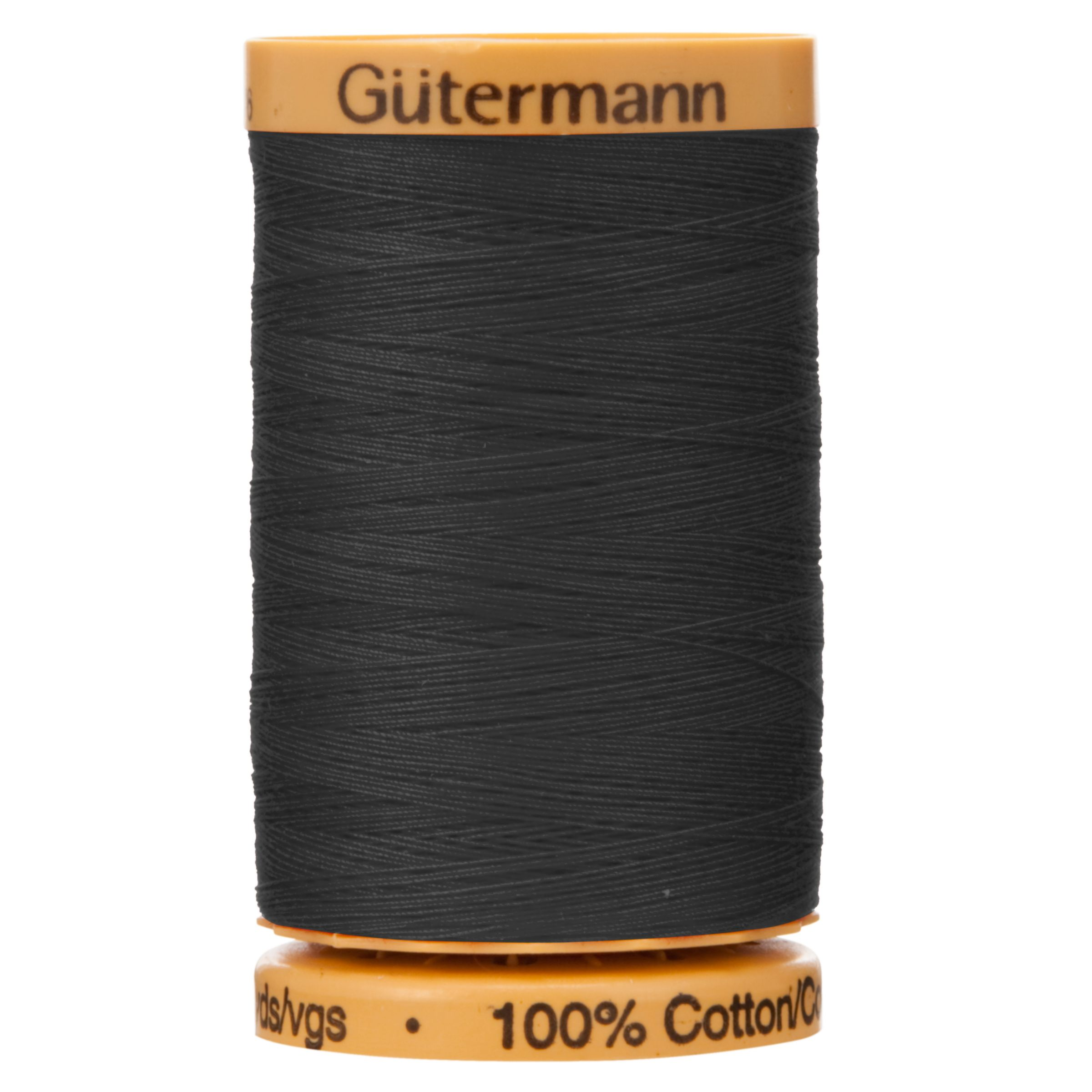 800m Gutermann  Natural Cotton Thread 5201 Black