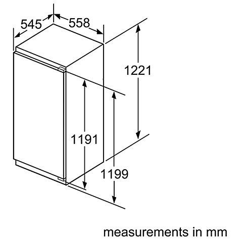 buy bosch kir41af30g integrated larder fridge a energy rating 56cm wide john lewis. Black Bedroom Furniture Sets. Home Design Ideas