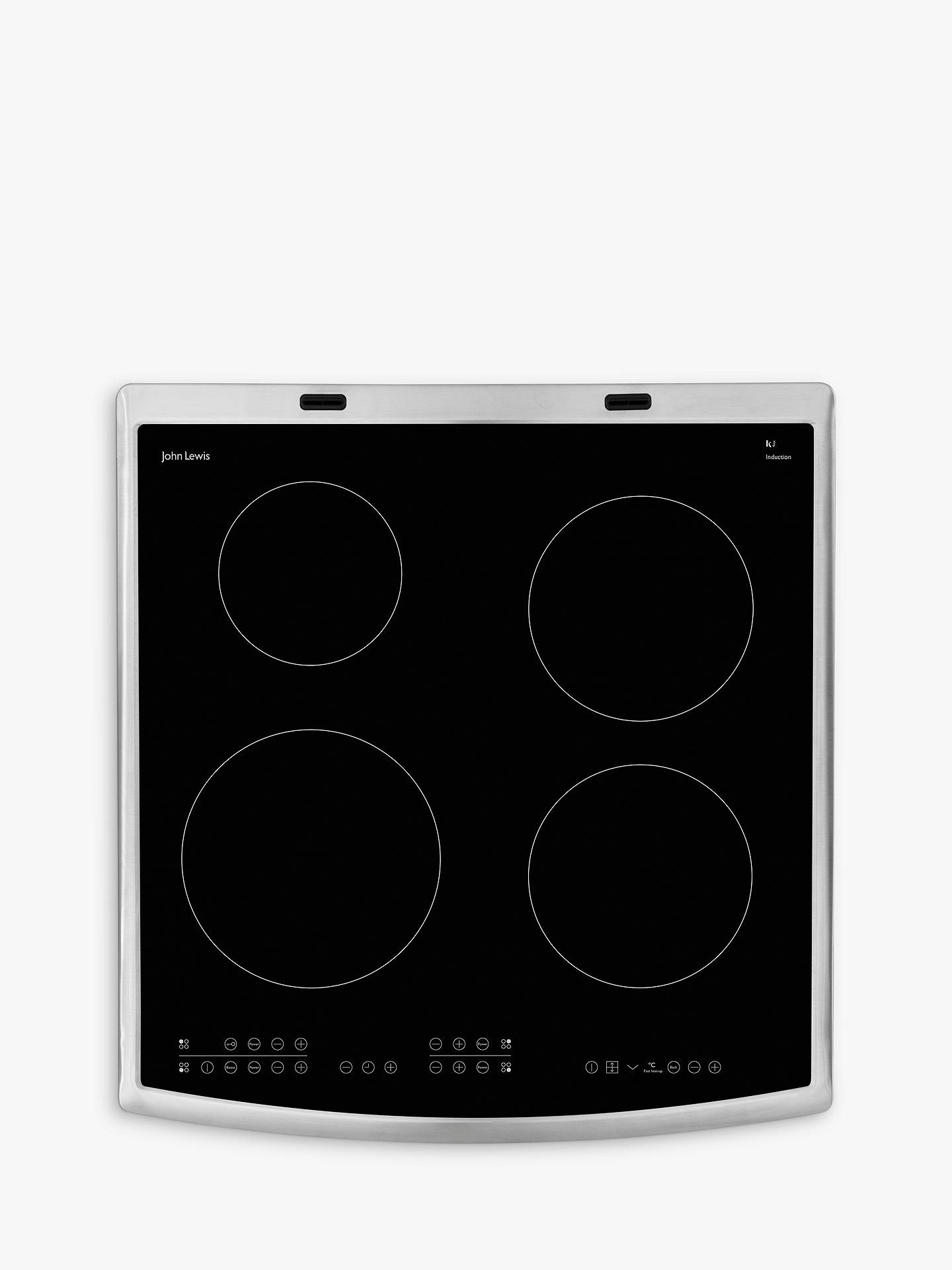 BuyJohn Lewis & Partners JLFSEC612 Induction Hob Electric Cooker, Stainless Steel Online at johnlewis.com