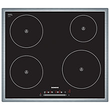 Buy Siemens EH645FE17E Induction Hob, Black Online at johnlewis.com