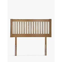 Buy John Lewis Cannes Wooden Headboard, Oak, Double Online at johnlewis.com