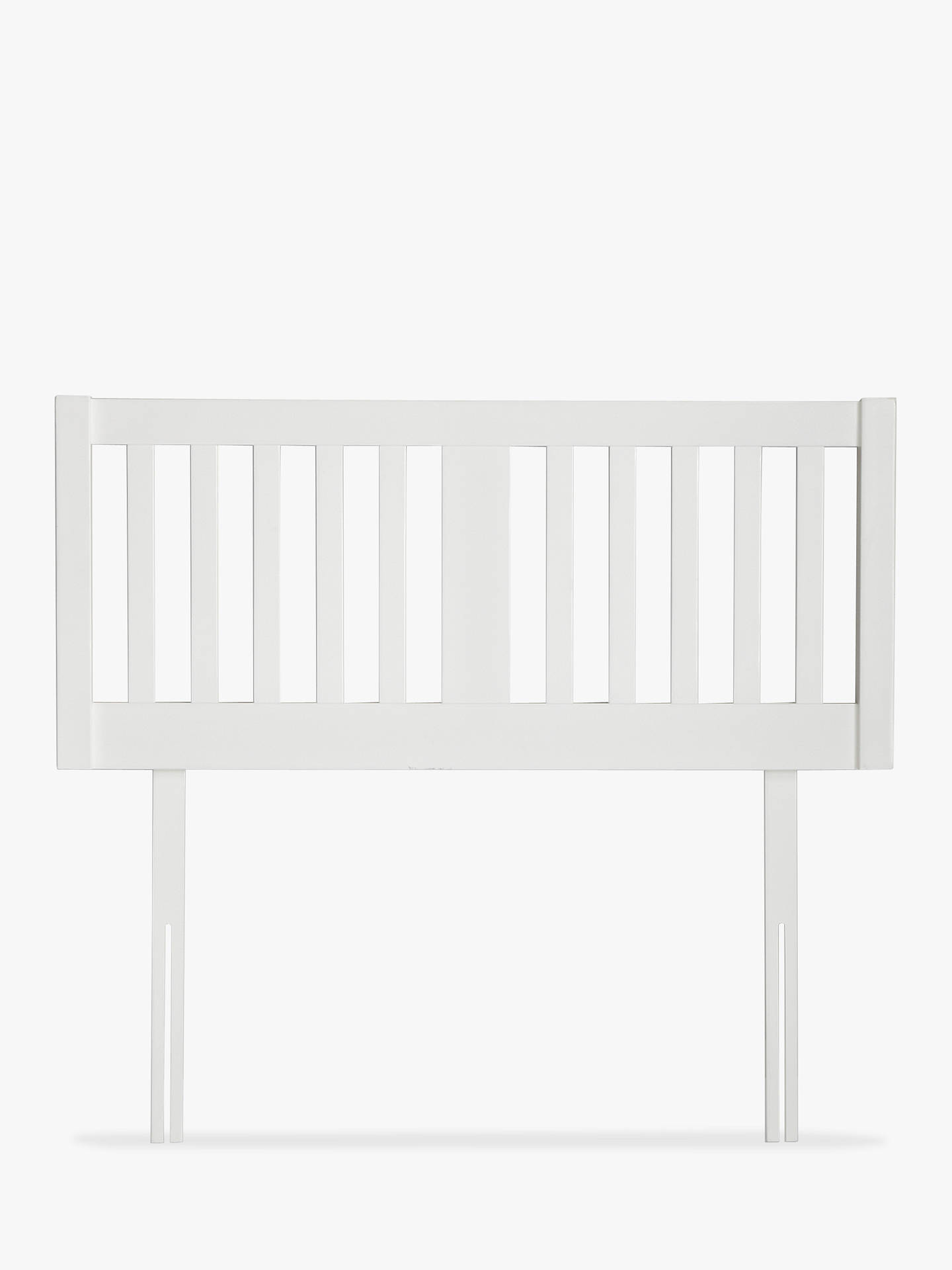 Buy John Lewis & Partners Cole Wooden Headboard, Double, White Online at johnlewis.com