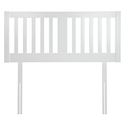 John Lewis & Partners Cole Wooden Headboard, King Size, White