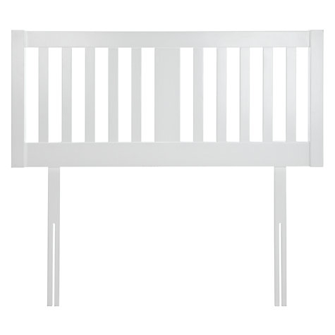 John Lewis Cole Wooden Headboard King Size White Online At Johnlewis