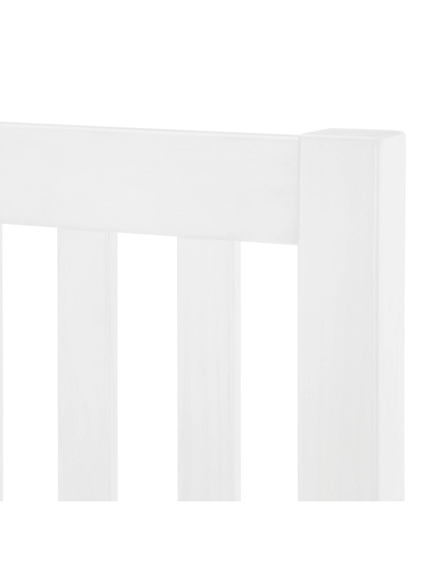 BuyJohn Lewis & Partners Cole Wooden Headboard, Single, White Online at johnlewis.com