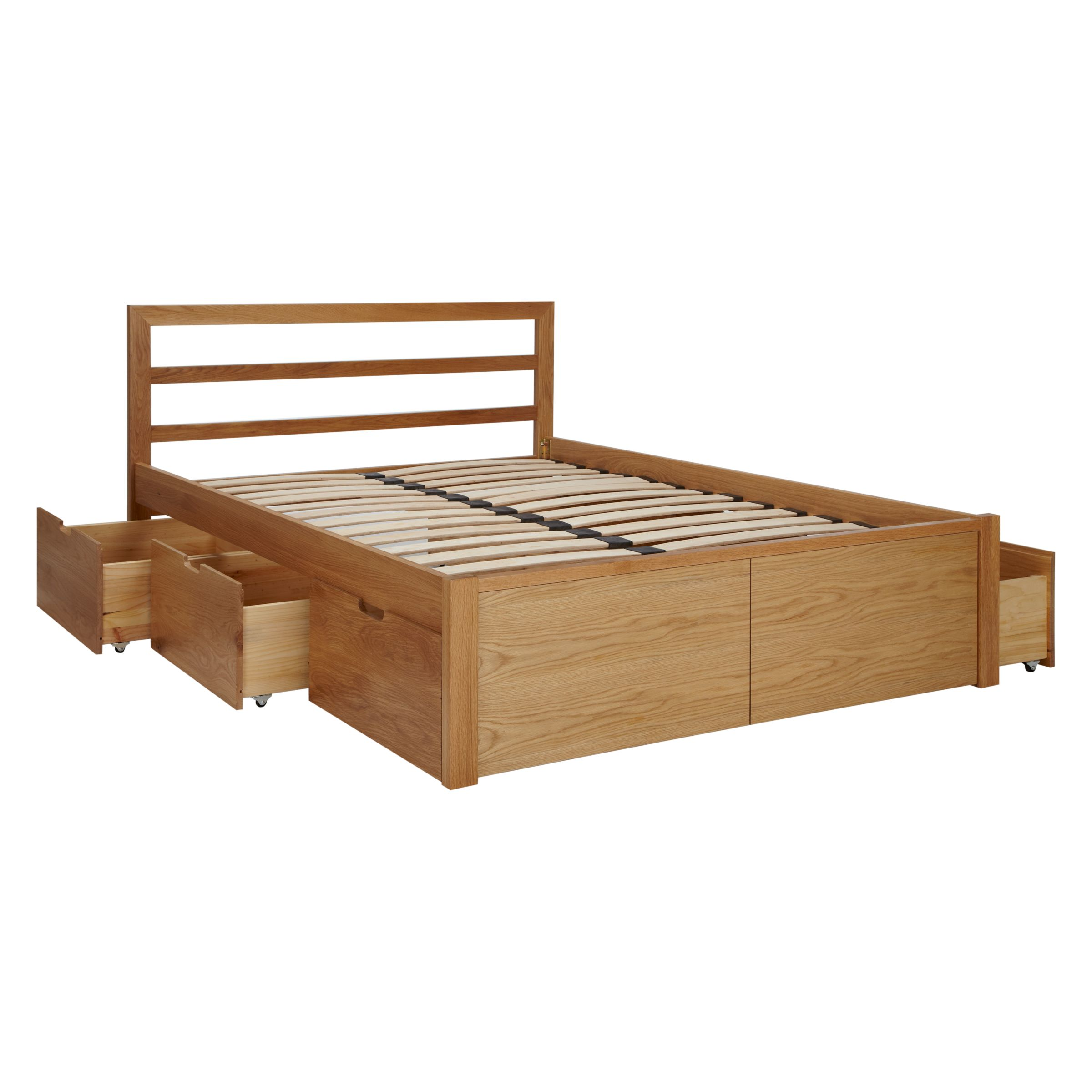 Picture of: House By John Lewis Ollie Storage Bed King Size Oak At John Lewis Partners
