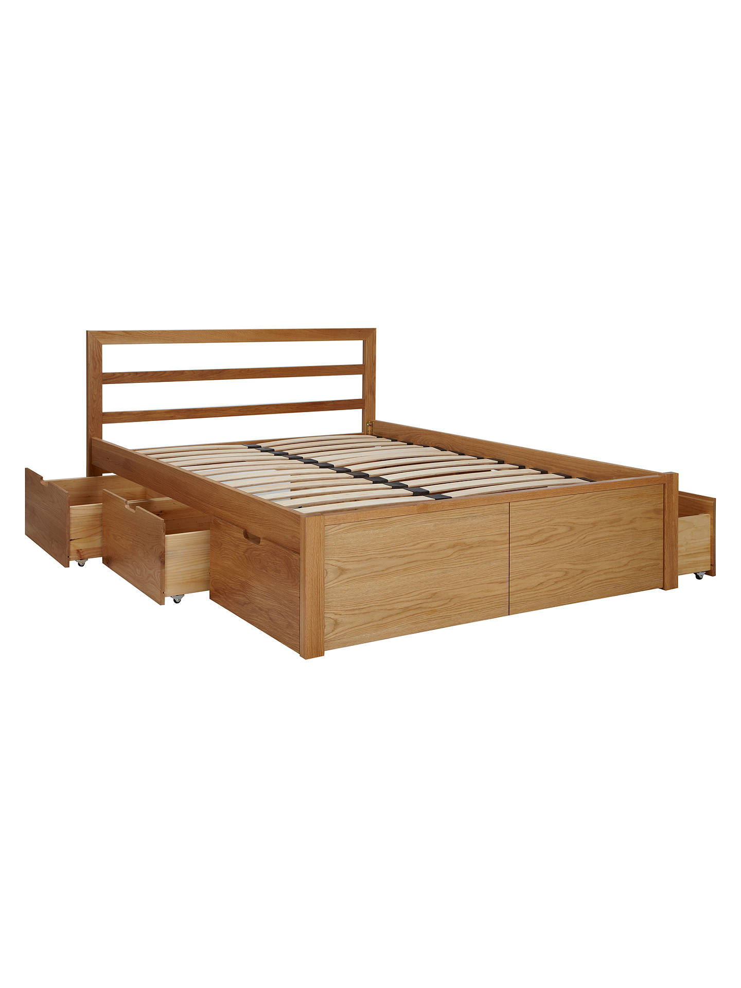 King Size Bed.House By John Lewis Ollie Storage Bed King Size Oak