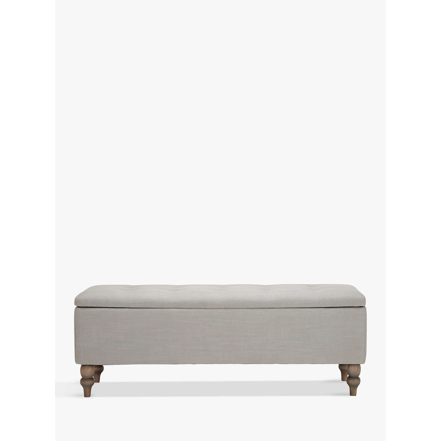 BuyCroft Collection Skye Ottoman Blanket Box, Grey Online at johnlewis.com