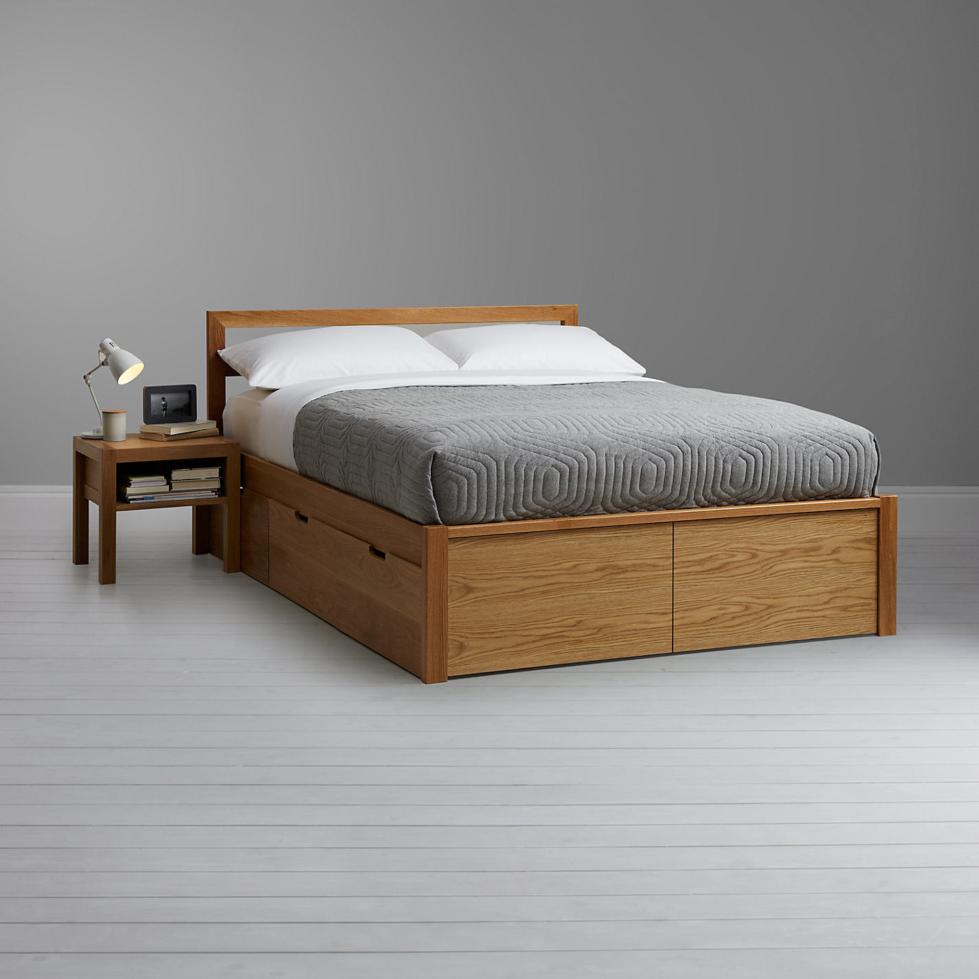 House By John Lewis Ollie Storage Bed Double Oak Online At Johnlewis