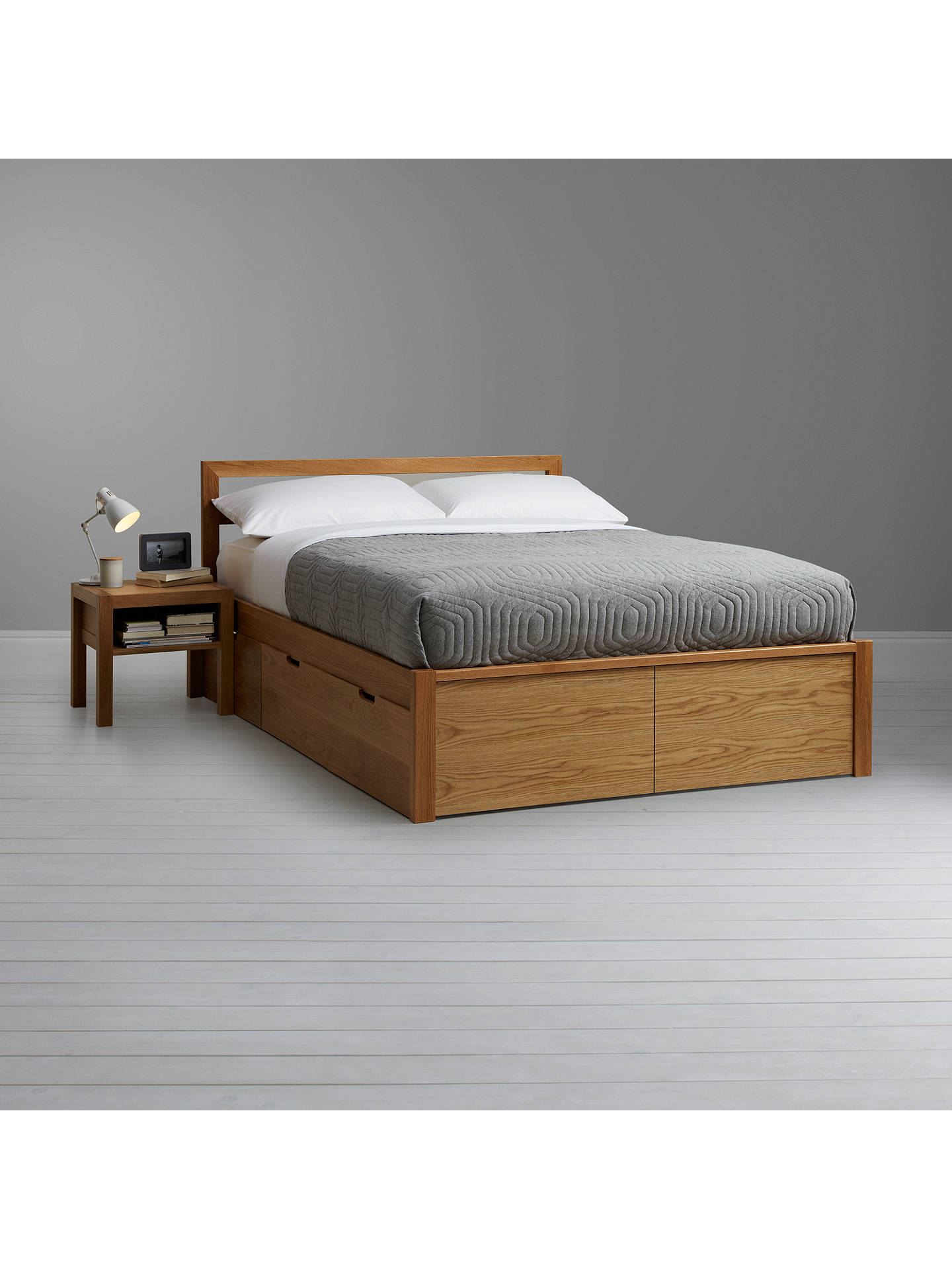 Buyhouse by john lewis ollie storage bed double oak online at johnlewis com