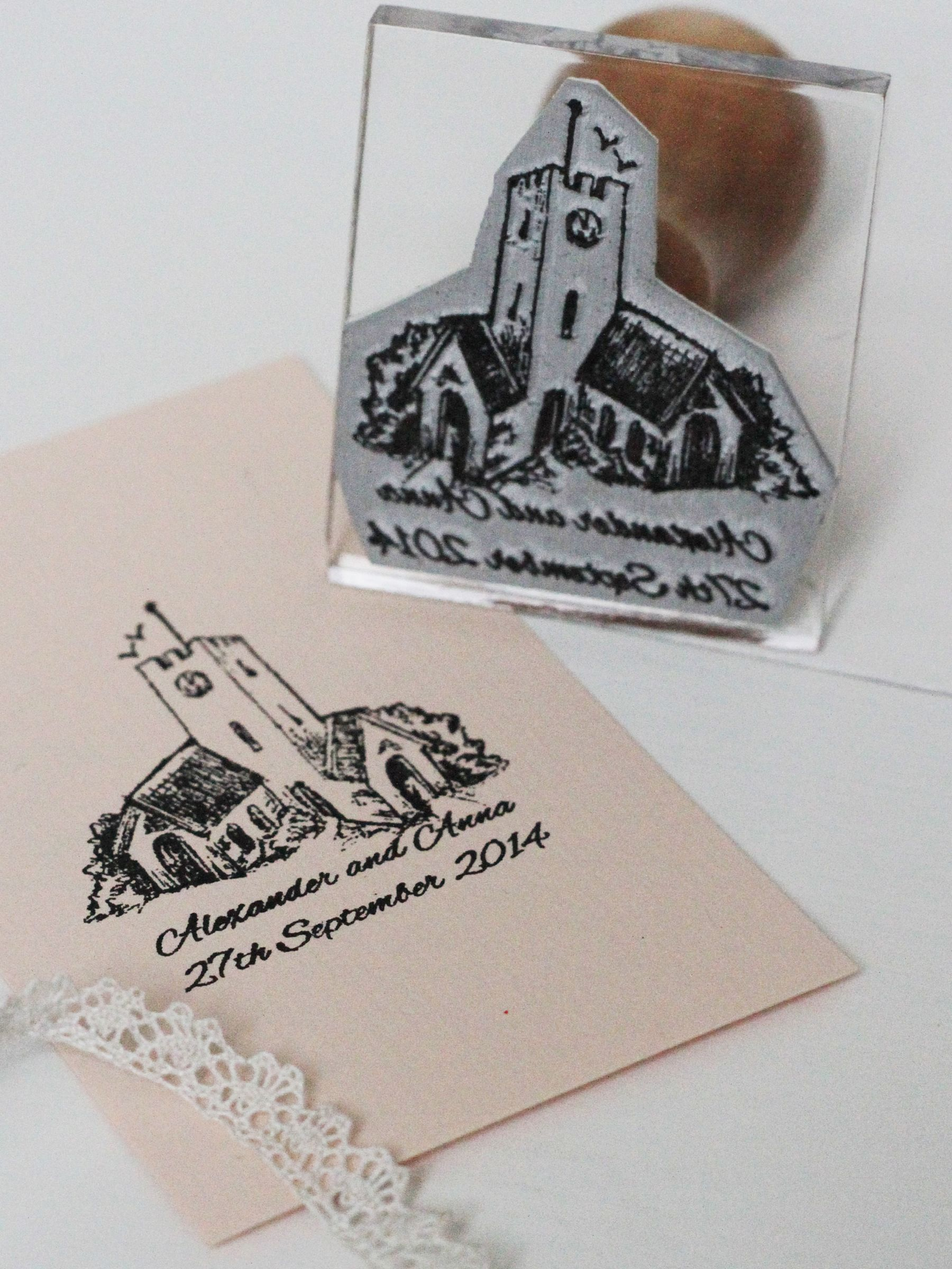 StompStamps StompStamps Personalised Wedding Drawing Stamp
