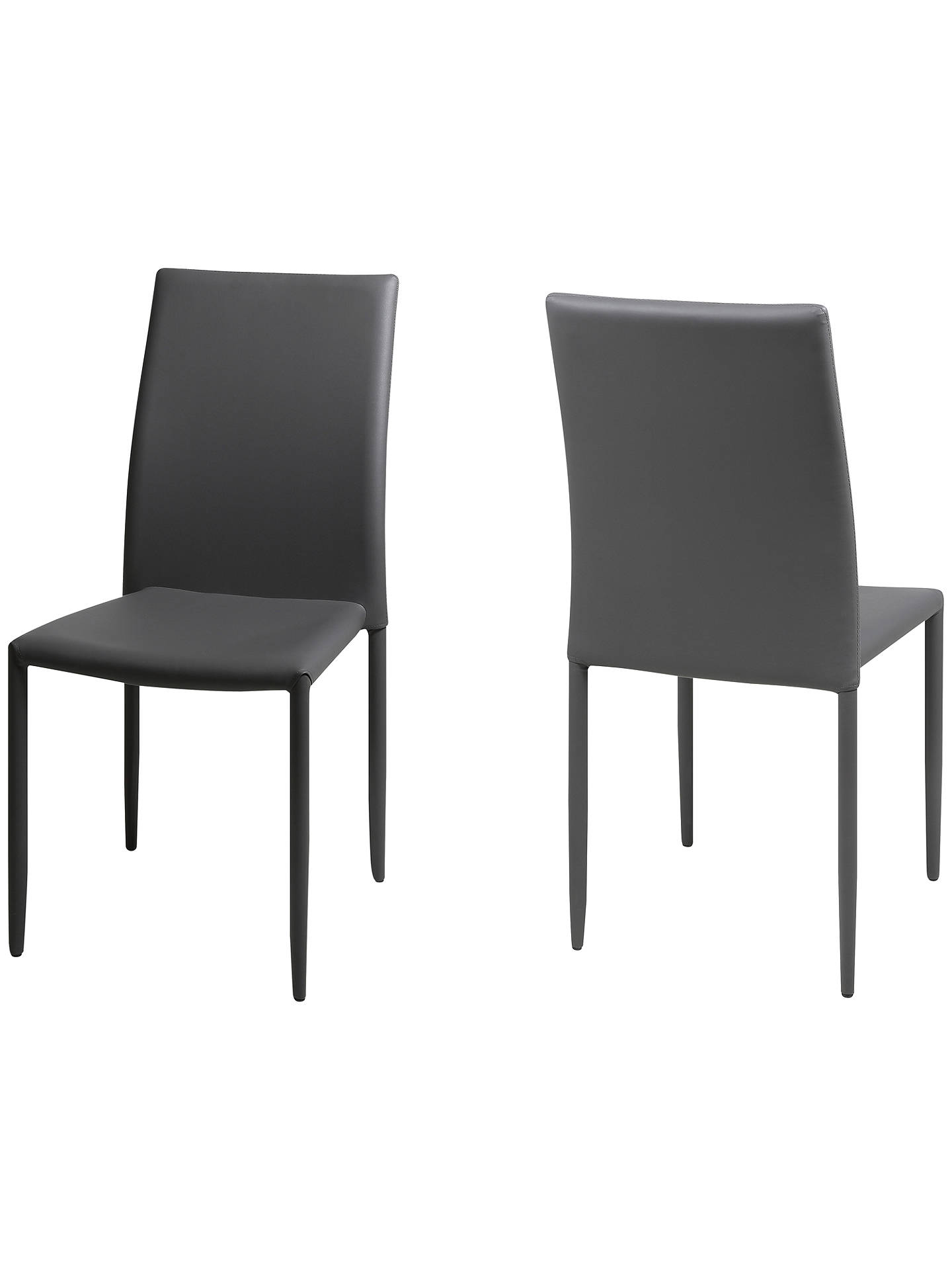 John Lewis Piana Dining Chairs Set Of 2 Grey At John