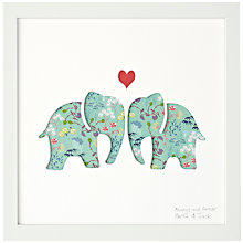 Buy Bertie & Jack 'Always and Forever' Elephants Framed Cut-out, 27.4 x 27.4cm Online at johnlewis.com