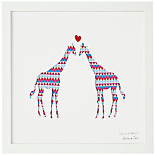 Buy Bertie & Jack 'Love is in the Air' Giraffe Framed Cut-out, 27.4 x 27.4cm Online at johnlewis.com