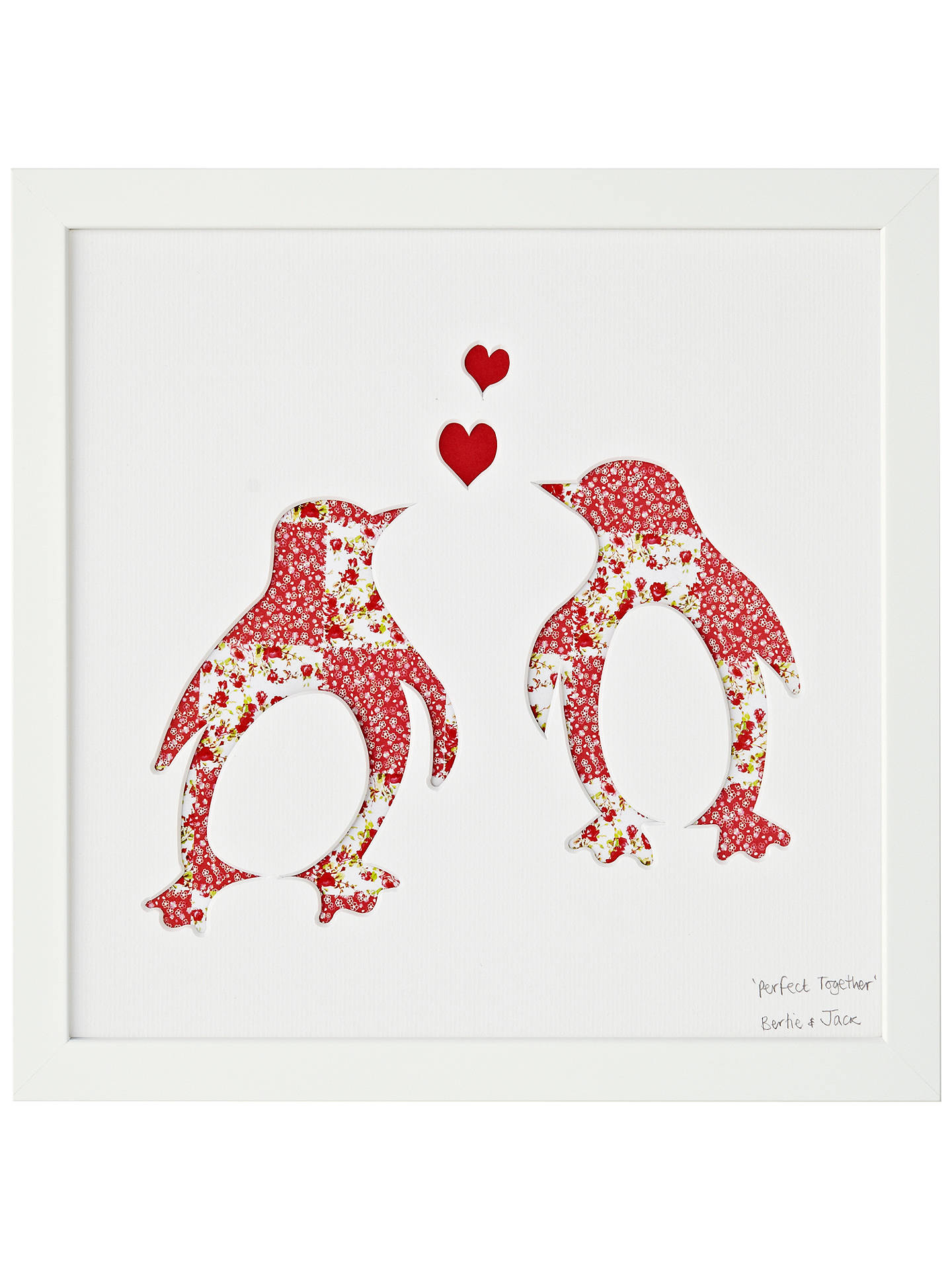 BuyBertie Jack Perfect Together Penguin Framed Cut Out 274 X