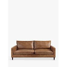 Buy John Lewis Bailey Large 3 Seater Semi-Aniline Leather Sofa, Lustre Cappuccino Online at johnlewis.com