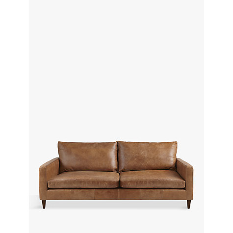 Buy John Lewis Bailey Large 3 Seater Leather Sofa Lustre