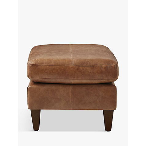 Buy John Lewis Bailey Semi-Aniline Leather Footstool, Lustre Cappuccino Online at johnlewis.com