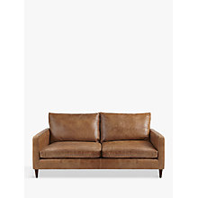 Buy John Lewis Bailey Medium 2 Seater Semi-Aniline Leather Sofa, Lustre Cappuccino Online at johnlewis.com