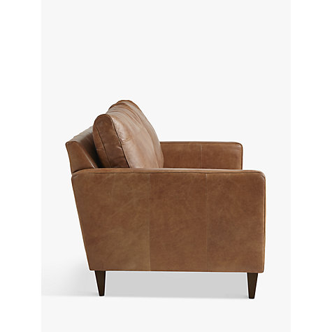 Buy John Lewis Bailey Medium 2 Seater Leather Sofa, Luster Cappuccino Online at johnlewis.com