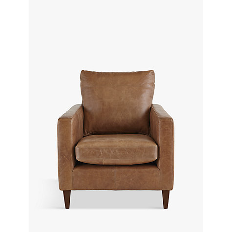 buy john lewis bailey semi aniline leather armchair. Black Bedroom Furniture Sets. Home Design Ideas