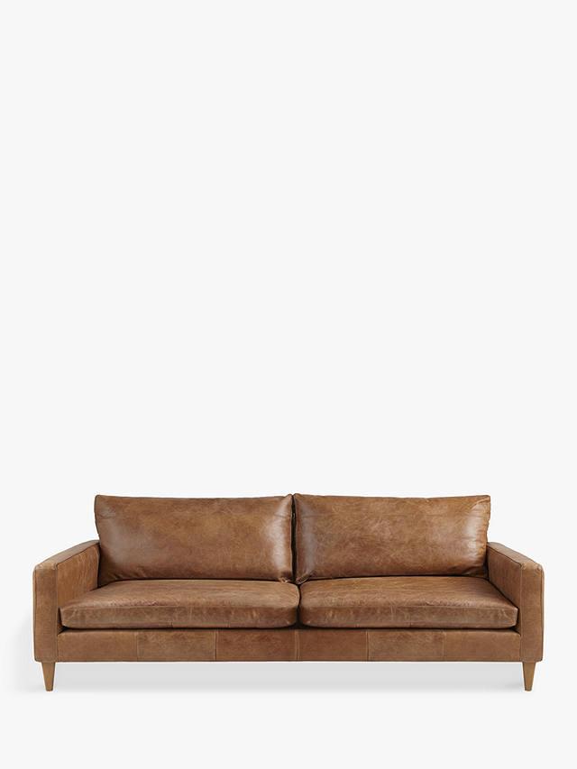 John Lewis & Partners Bailey Grand 4 Seater Leather Sofa ...