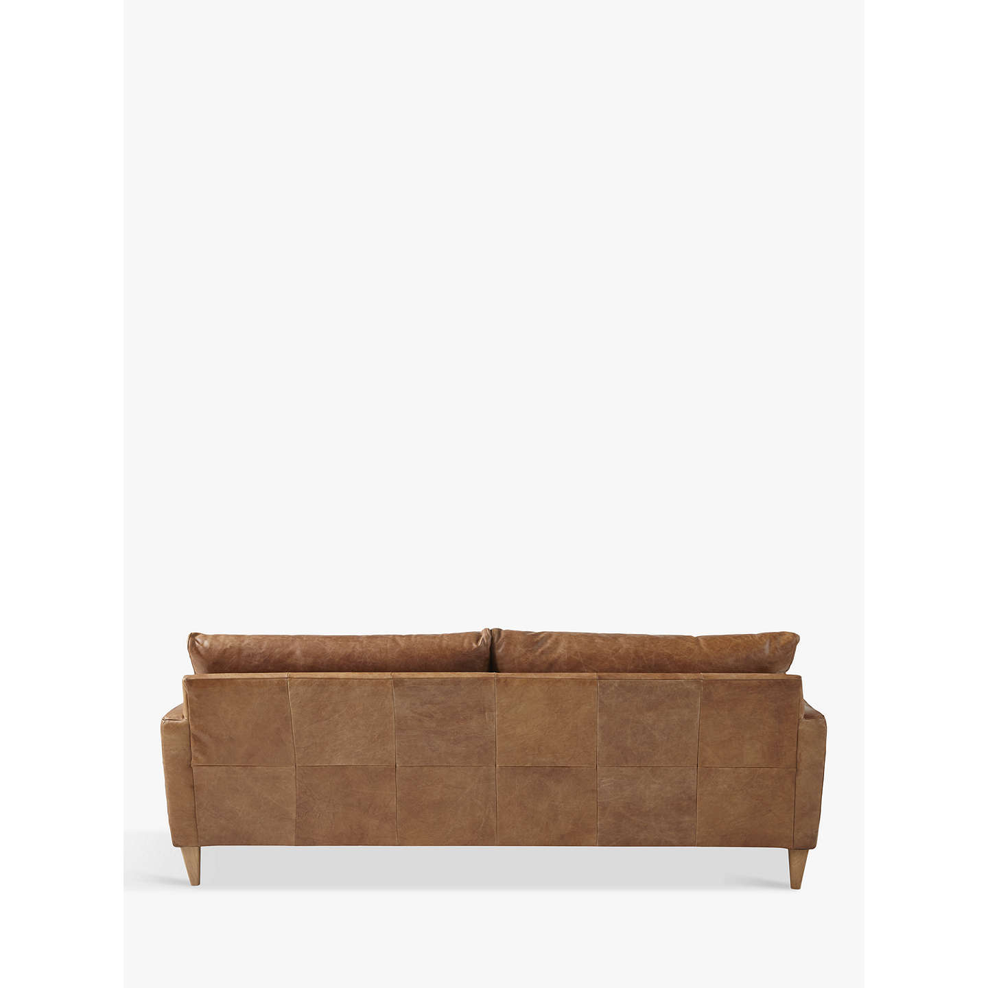 John Lewis Bailey Grand 4 Seater Semi Aniline Leather Sofa Er Cuccino Online At