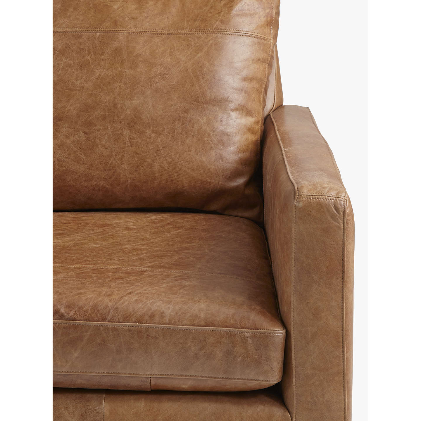 Beau ... BuyJohn Lewis Bailey Grand 4 Seater Semi Aniline Leather Sofa, Luster  Cappuccino Online At ...