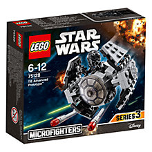 Buy LEGO Star Wars 75128 TIE Advanced Prototype Microfighter Online at johnlewis.com