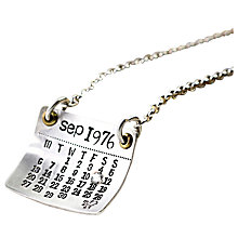 Buy Twisted Typist Personalised Mark The Day Calendar Necklace Online at johnlewis.com