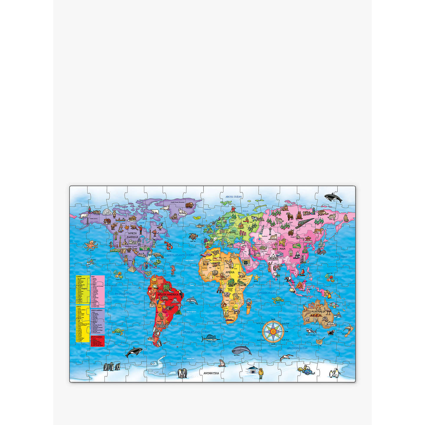 Orchard toys world map jigsaw puzzle poster at john lewis buyorchard toys world map jigsaw puzzle poster online at johnlewis gumiabroncs Image collections