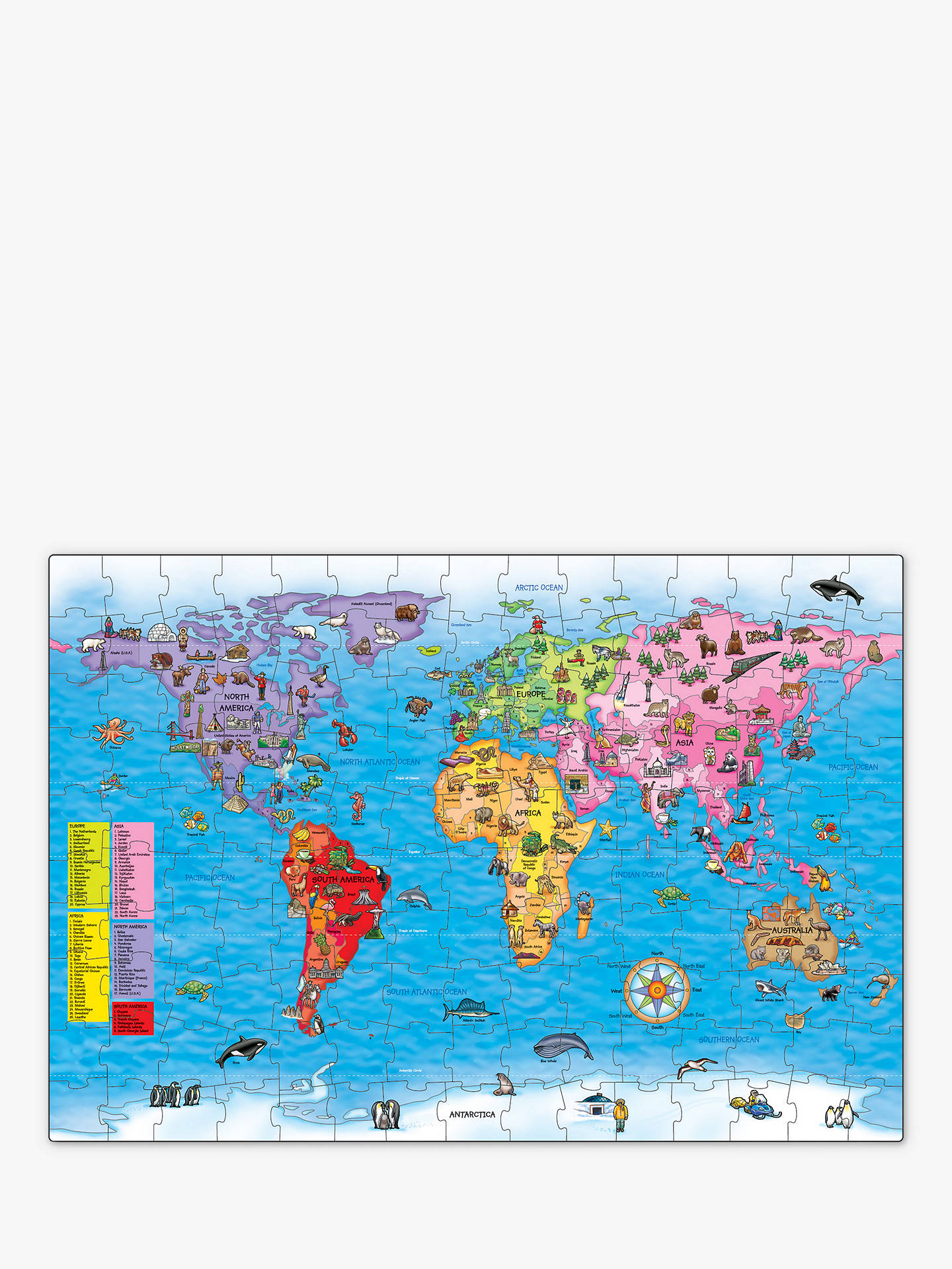 Orchard toys world map jigsaw puzzle poster 150 pieces at john buyorchard toys world map jigsaw puzzle poster 150 pieces online at johnlewis gumiabroncs Gallery
