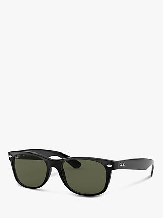 Ray-Ban RB2132 Wayfarer Polarised Sunglasses, Black
