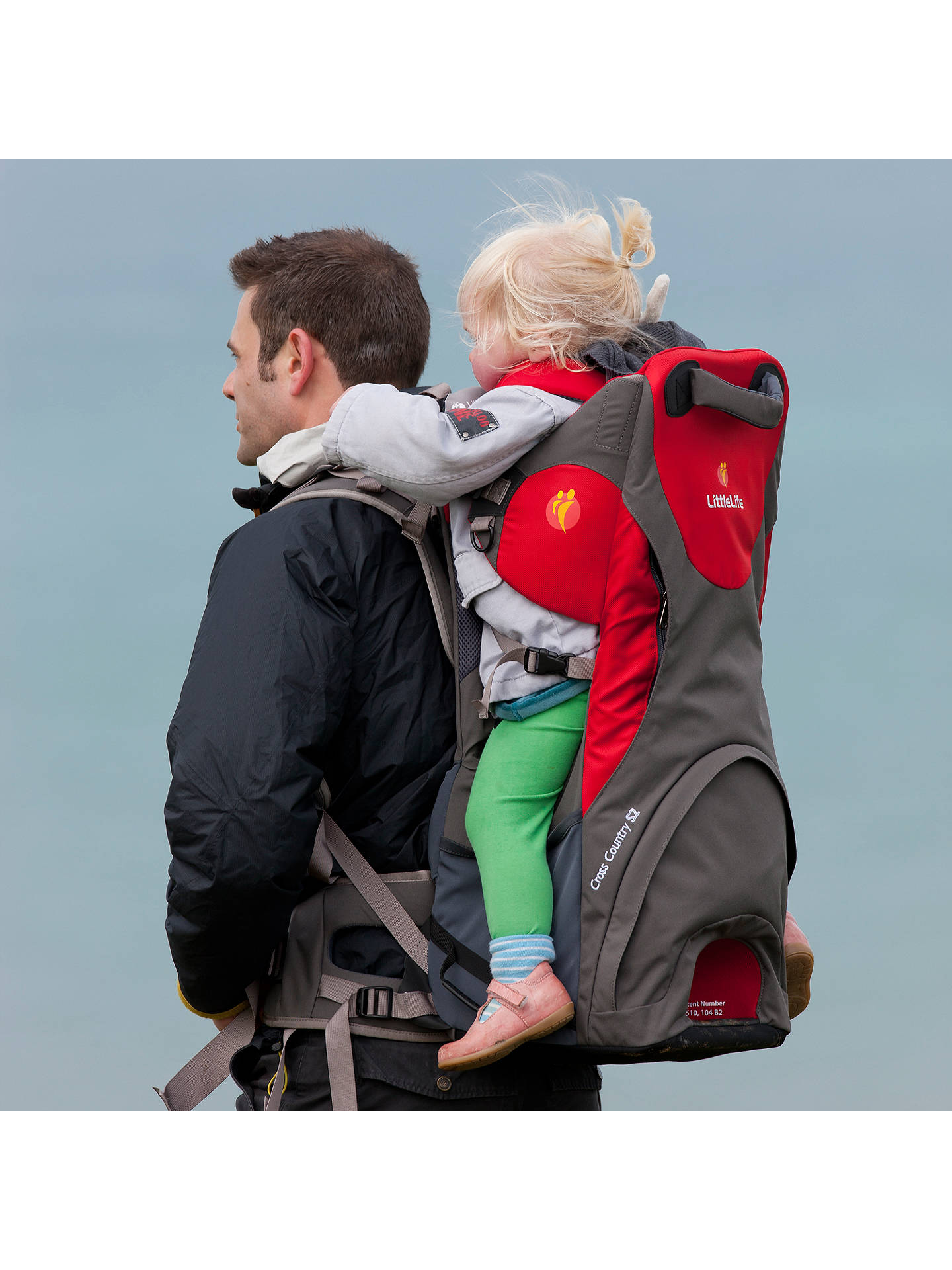 0aaee402447 Buy LittleLife Cross Country S3 Baby Back Carrier, Red/Grey Online at  johnlewis.