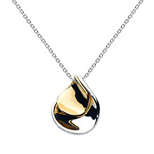 Buy Kit Heath Double Petal Sterling Silver 18ct Gold Plated Pendant Online at johnlewis.com