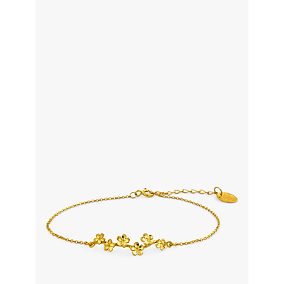 Product photo of Alex monroe 22ct gold plated forget me not drift bracelet