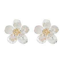 Buy Alex Monroe Sterling Silver Citrine Buttercup Stud Earrings, Silver/Yellow Online at johnlewis.com