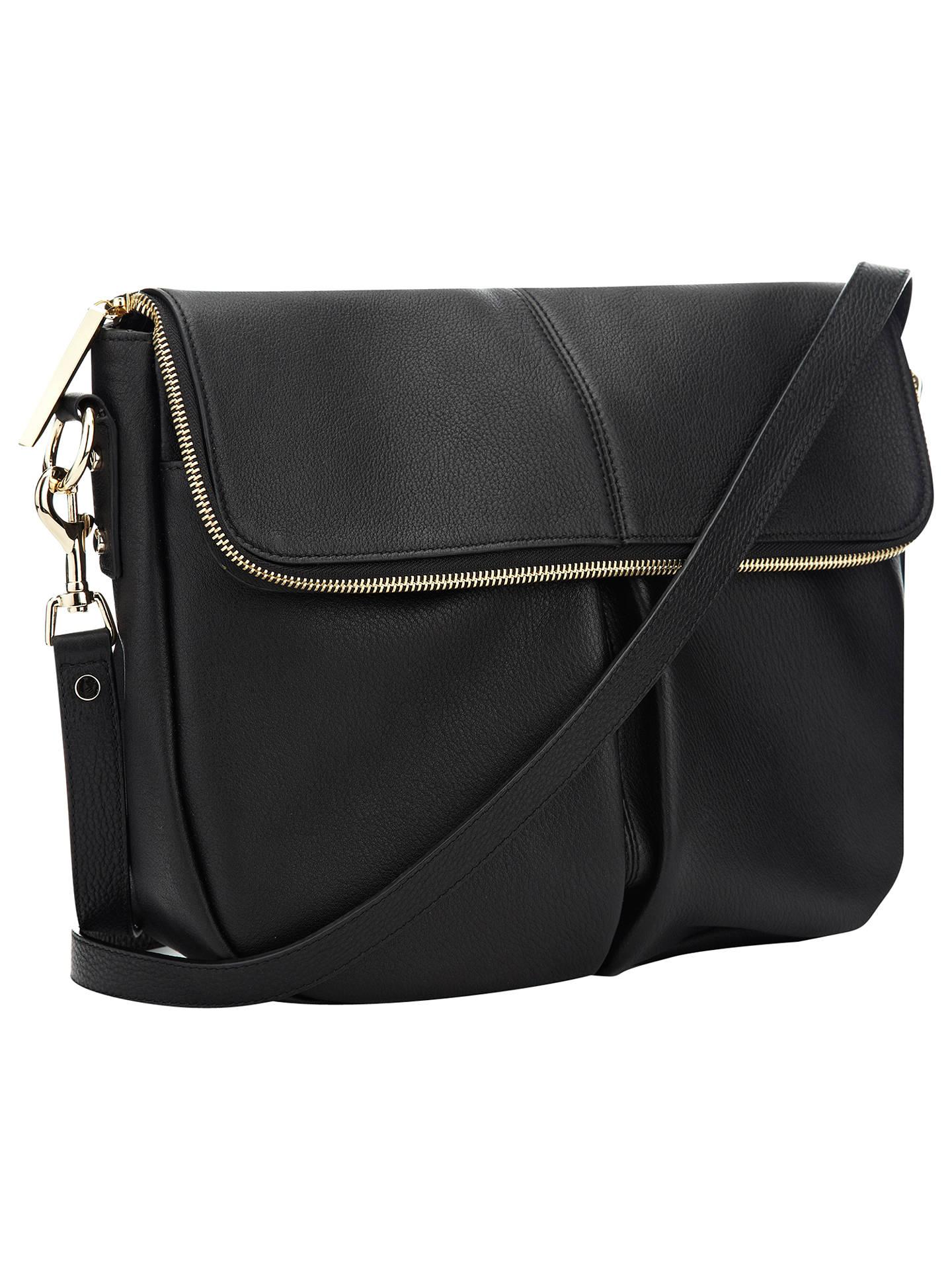 49421195fe Whistles Duffy Zip Leather Satchel Bag at John Lewis   Partners