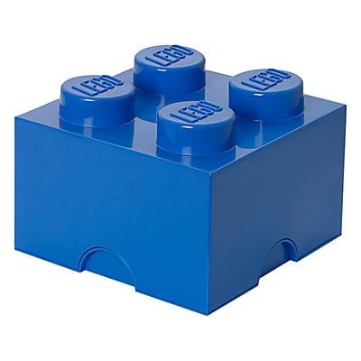 LEGO 4 Stud Storage Brick, Blue