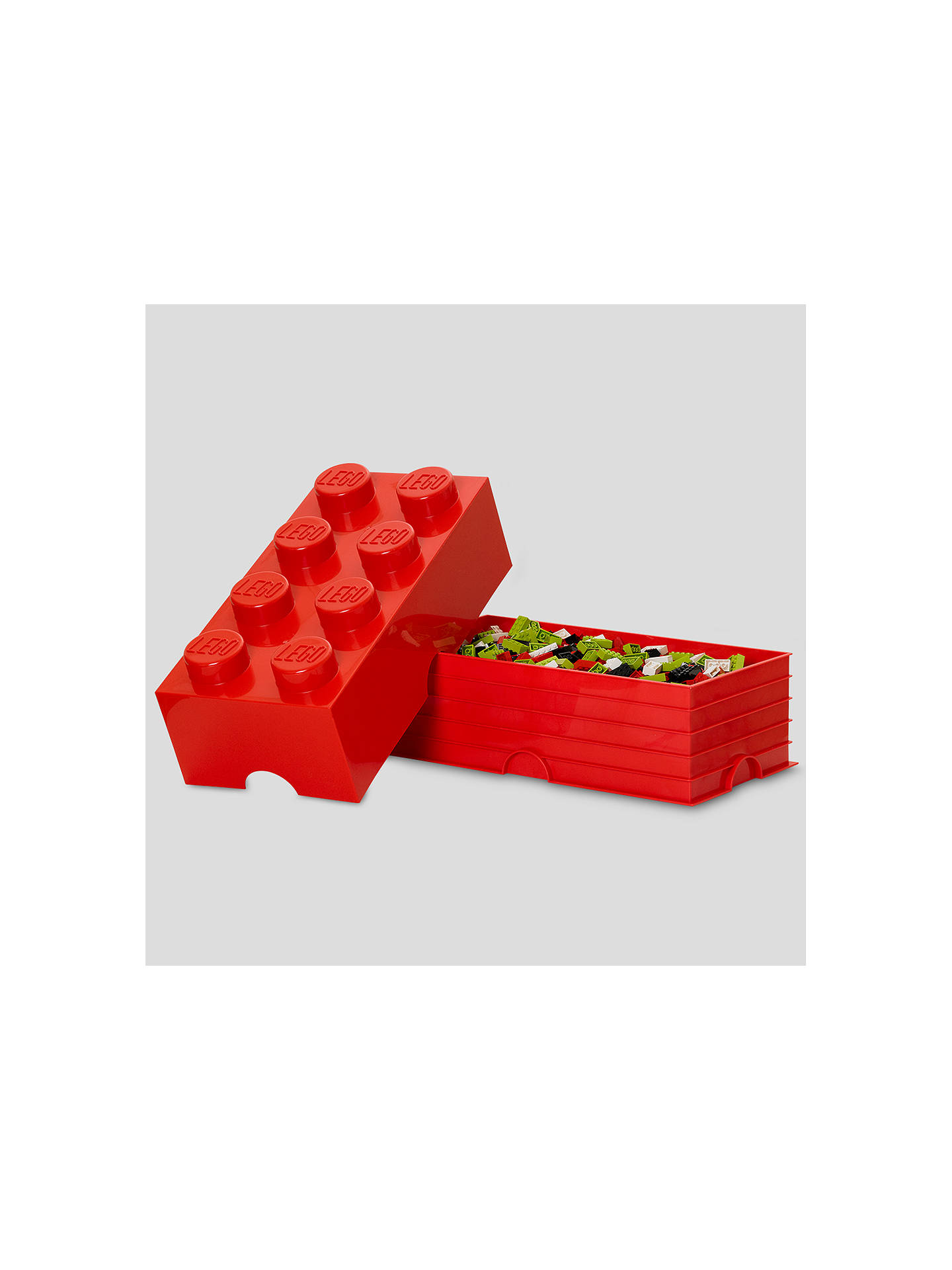BuyLEGO THE LEGO MOVIE 40041733 8 Stud Storage Brick, Red Online at johnlewis.com