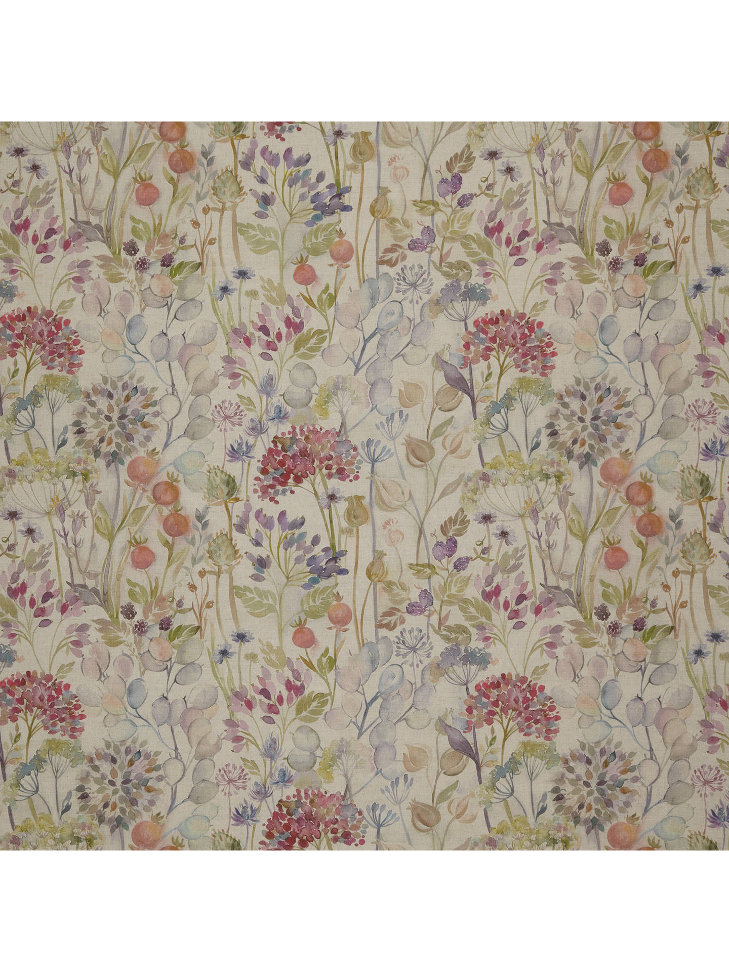 Voyage Hedgerow Linen Furnishing Fabric Multi At John