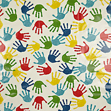 Buy John Lewis Hand Print PVC Tablecloth Fabric, Multi Online at johnlewis.com
