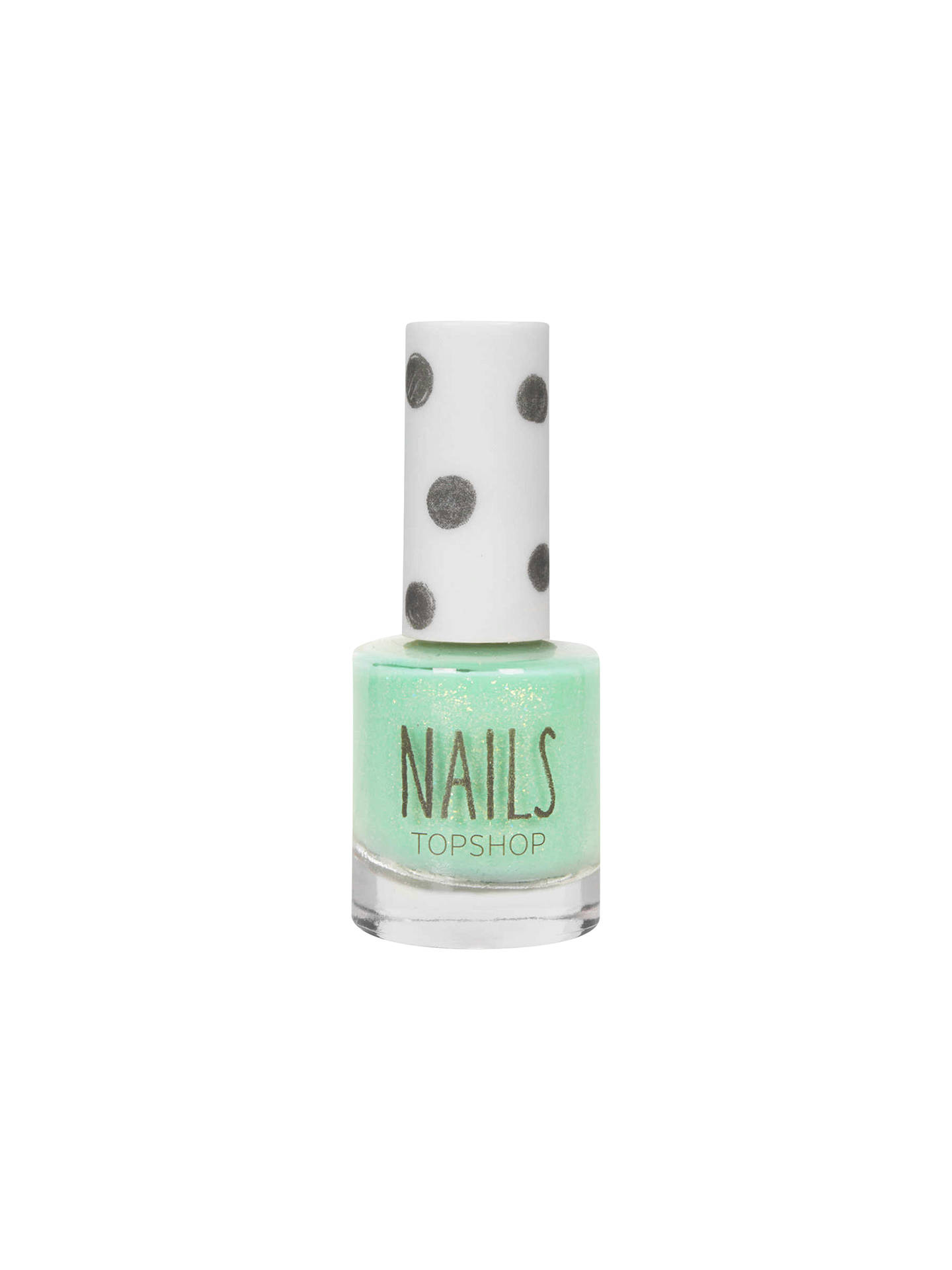 BuyTOPSHOP Nails - Pastel Glitter, Light Green Online at johnlewis.com
