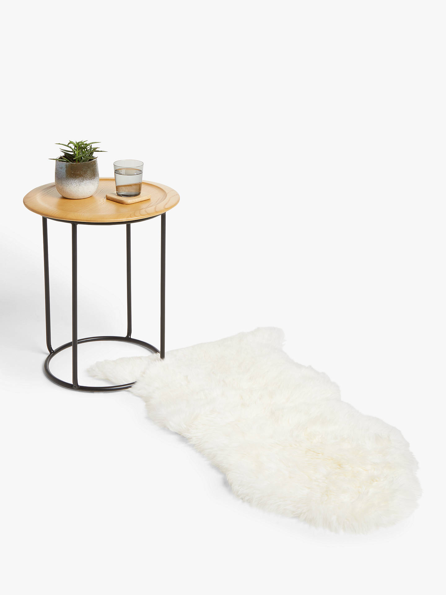 Buy John Lewis & Partners Single Sheepskin Rug, Ivory Online at johnlewis.com
