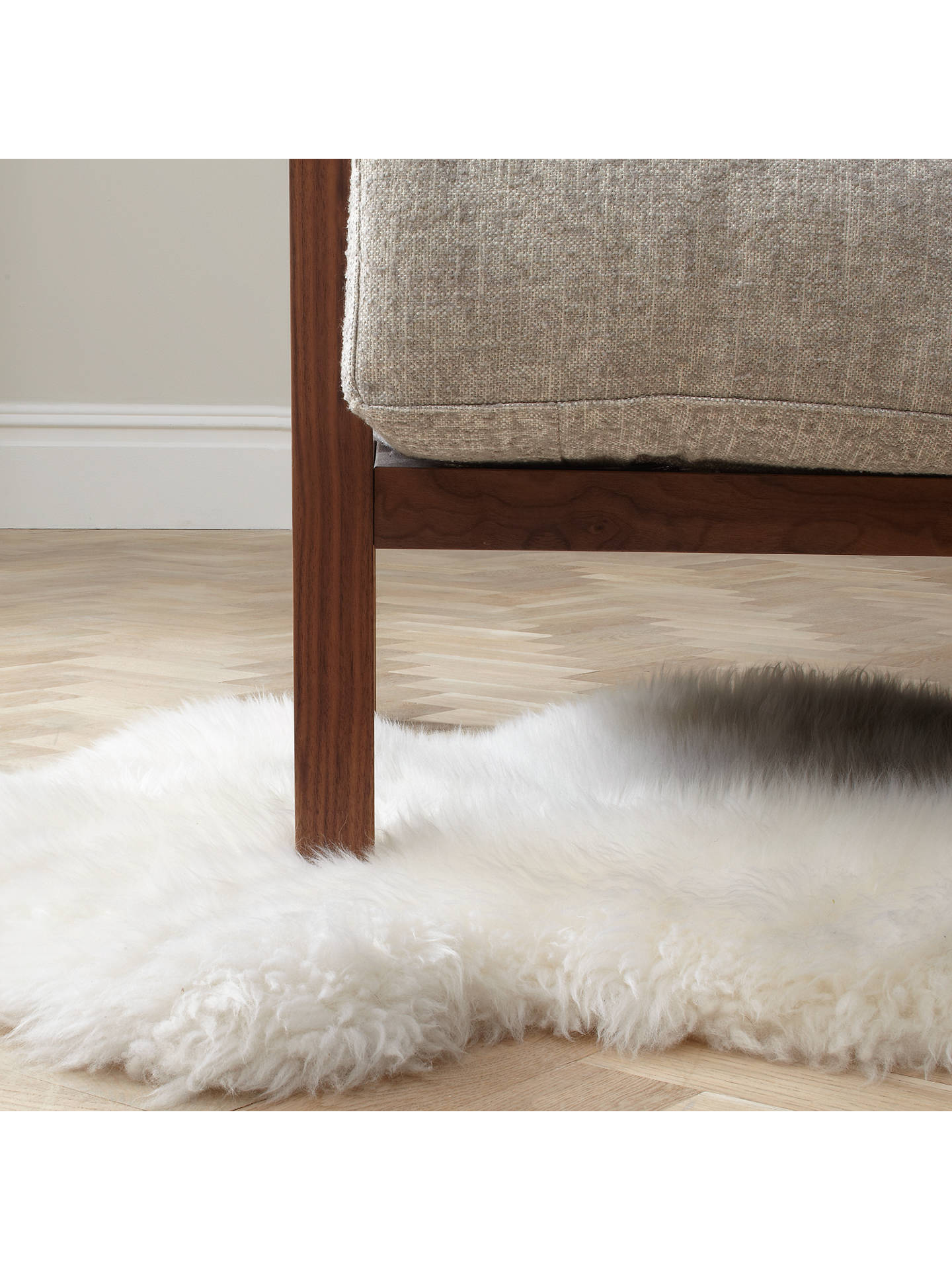 John Lewis Partners Sheepskin Rug Double Ivory