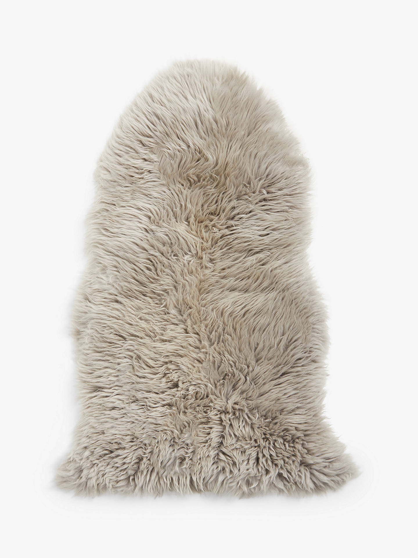 Buy John Lewis & Partners Single Sheepskin Rug, Grey Online at johnlewis.com