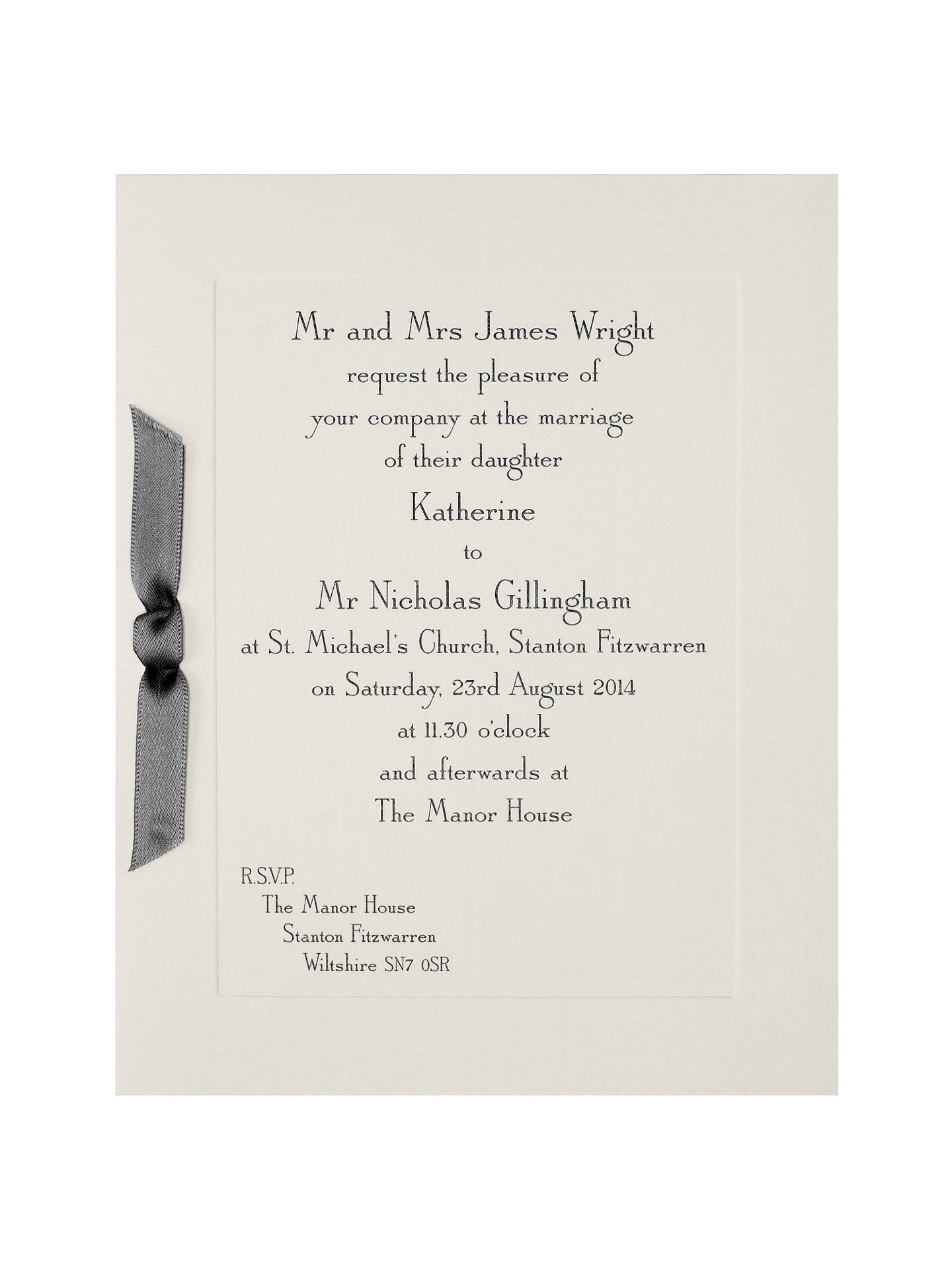 The Letter Press Imperial Invitations Pack Of 60 At John Lewis