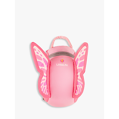 Product photo of Littlelife butterfly toddler backpack pink