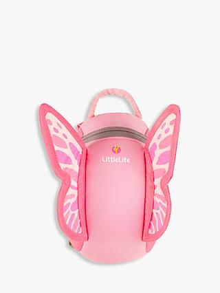 LittleLife Butterfly Toddler Backpack, Pink