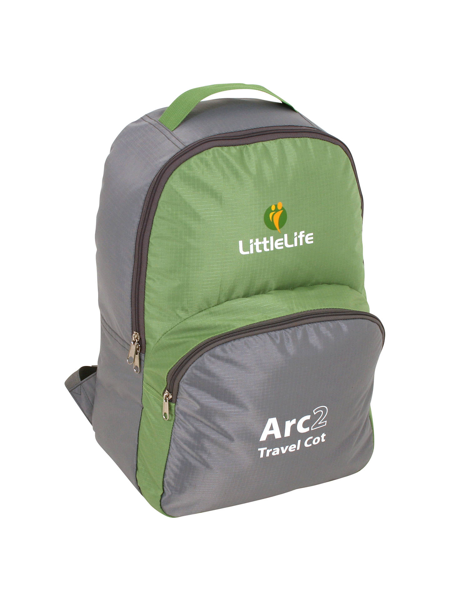 BuyLittleLife Arc 2 Travel Cot, Green Online at johnlewis.com